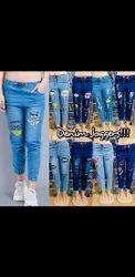 Ladies Denim Joggers