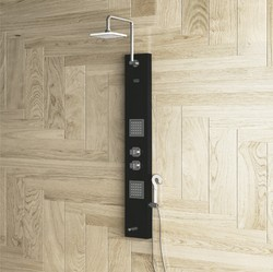 PEARL Black Shower Panel