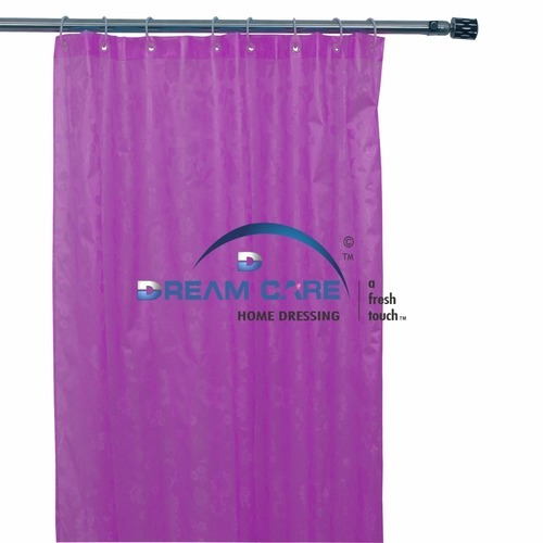 Plain PVC Waterproof Shower Curtain Size 54
