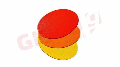 Pack of 3 Rubber Indoor Bases for Spiked Slalom Poles For 32mm Poles