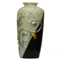 Designer Cream And Black Vase
