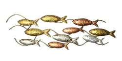 Ten Fish Wall Decor