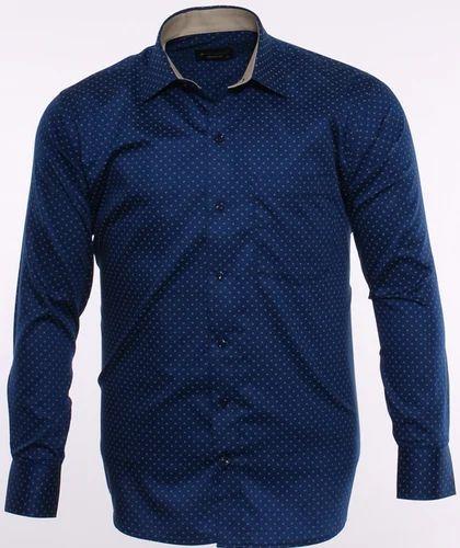 0a2216f1 40.0 Blue 19008 Semi Formal Shirt, Rs 995 /piece, Cotton King   ID ...