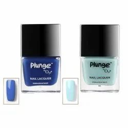 O3 Plunge Dream Blue and Palais Royal Nail Paint Polish Lacquer