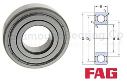 6014 ZZ FAG Deep Groove Ball Bearing