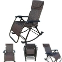 Folding Gravity Reclining Rocking Chair-Brown-08