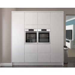 Wooden And SS Kitchen Tall Unit