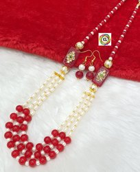 Cl Jewellery Handmade Customised Glass Beads Affordable Women Jewellery Necklace Set