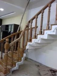 PRE-FINISH WOODEN STAIRCASE