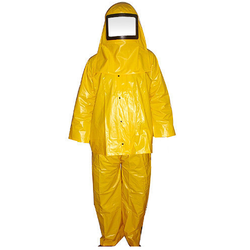 Pvc Suit With Hood For Chemical Handling