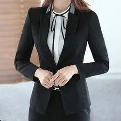 Yadnika Garments Full Sleeve Women's Formal Black Jacket
