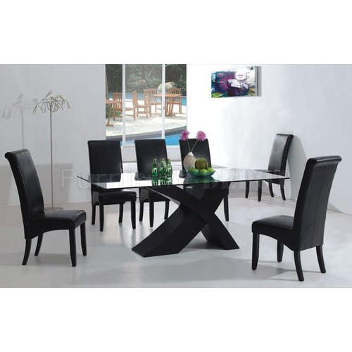 225 & Glass Dining Table Set