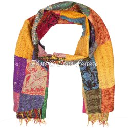 Indian Vintage Patchwork Scarf Stole