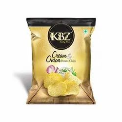 Potato Cream & Onion Chips, Packaging: Packet