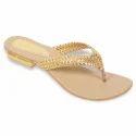 Fancy Flat Ladies Polymer Slipper, Size: 5 & 7