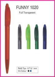 Plastic Full Transparent Ballpoint Pen