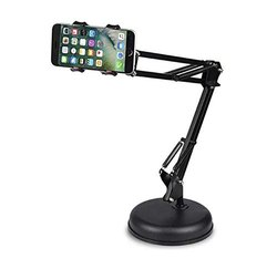 Black Techtest Metal Long Arm Lazy Phone Holder