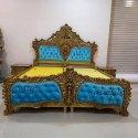 Wood Antique Wooden Royal Designer Bed
