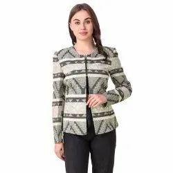 Geometrical Design Stylish Coat