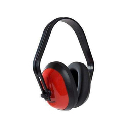 652be7030254 Red And Black Plastic Ear Muffs, For Noise Reduction