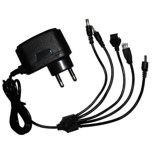 Black 5 In 1 Multi Pin Charger Rs 45 Piece Ss Group