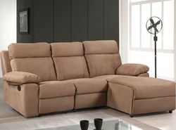 Murphy L-Shape Sofa With Recliner, L shape couch, एल शेप ...
