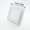 6W White Plus 3W Side Blue Square Surface Panel Light