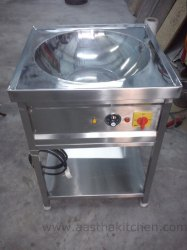 Stainless Steel Electric Kadai for Hotel, Capacity: 20 Liters