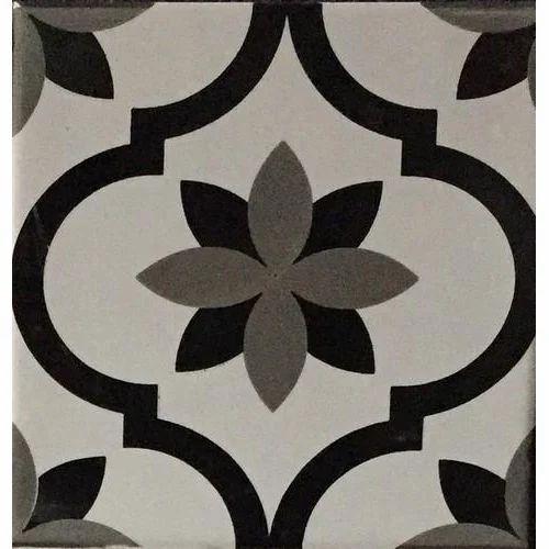 Multicolor Hand Printed Ceramic Tiles