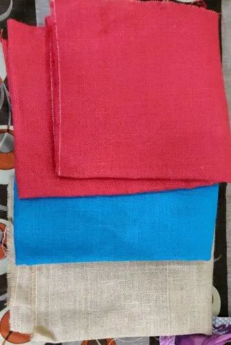 Plain Red,Blue and White Dyed Hessian Fabric, 100-150 Gsm, Size/Dimension: 48 Inch