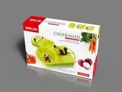 Nirlon Chop & Wash 14 inch x 9.3 Plastic Chopping Board with Knife