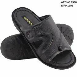 a9cb8e95b Trendy Men s Black Leather Slipper