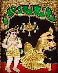 Gopi Krishna Tanjore Painting