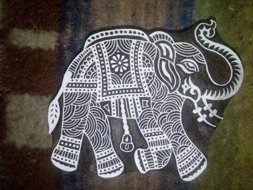 0c2b9bc21e5f Red Wood Elephant Printing Block