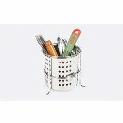 Stainless Steel SS Cutlery Holder, Round