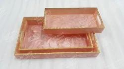 Resin Tray (3 Pcs.Set) Rectangular