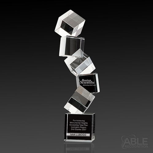 Crystal Cubical Trophy