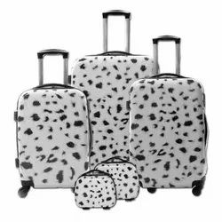 White Fiber Trolley Bag Set