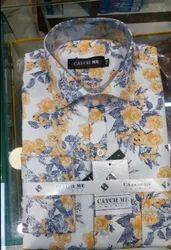 Cotton Slim Fit Mens Printed Shirt