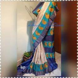 6.5m (with Blouse) Standered Zari Border Tussar Silk Saree