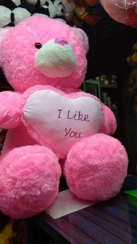Red Teddy Bear 5 Feet, Girl Pink Red 4 5 Feet Big Teddy Bear With I Like You Heart Rs 1875 Piece Id 18829334233