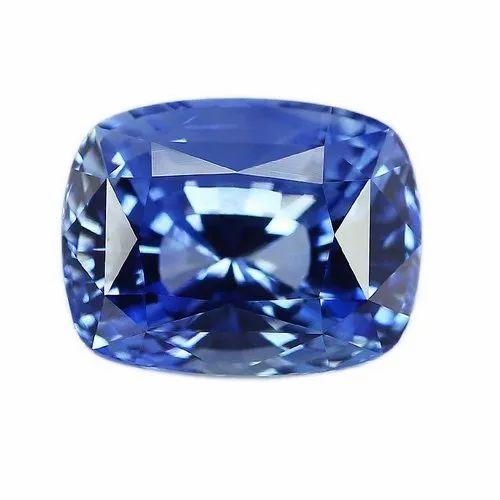 VVS1 Cushion Cut Natural Ceylon Blue Sapphire