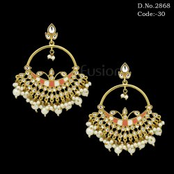 Meenakari Indo Western Earring