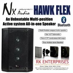 Black NX Audio Multi-position Active System All-in-one Speaker