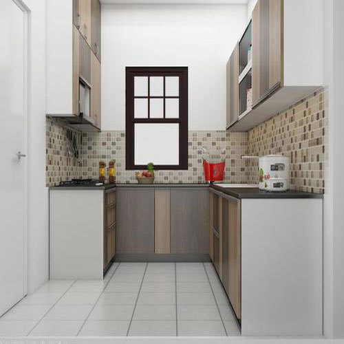 U Shaped Modular Kitchen, 8 Square Modular Kitchens