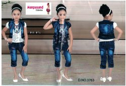Party Wear Girl Capri, Age: 2 To 13 Years