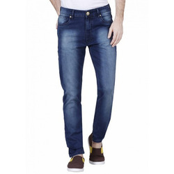 Casual Wear Plain Men''s Cotton Regular Jeans