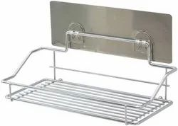 Stainless Steel Wall Mounted Bathroom Shelf, Packaging Type: Box, Size: 9.8 X 4.5 X 3.4 Inches