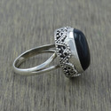 Black Onyx Gemstone 925 Sterling Silver Jewelry Ring