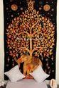 Twin Elephant Tree Mandala Wall Hanging Tapestry